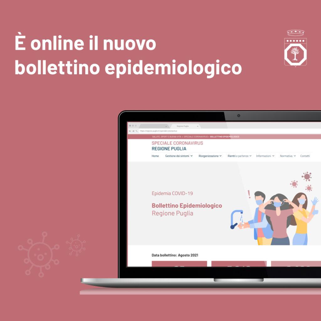E' online il nuovo bollettino epidemiologico della Regione Puglia